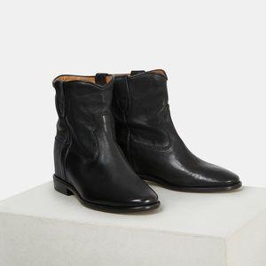 Isabel Marant Cluster Boots Black Calfskin Leather